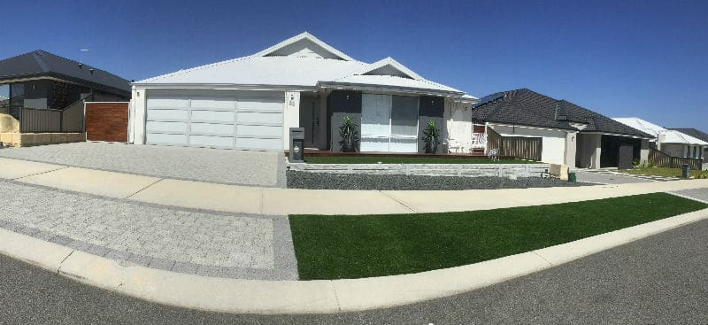 Artificial grass installed in front yard in Aveley,Ellenbrook,Synthetic grass the vines,