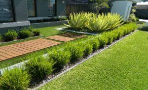 Artificial grass wangara Fake grass installation around pool