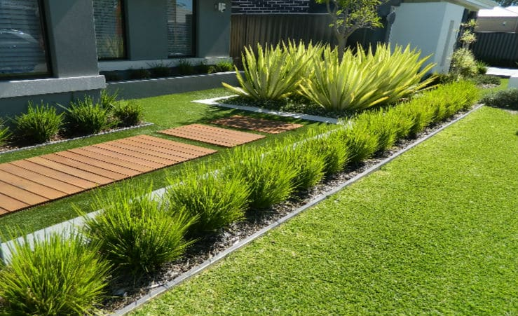 front yard Artificial grass installation in The Vines