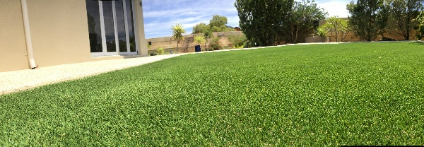 artificial-grass-back yard installation Perth