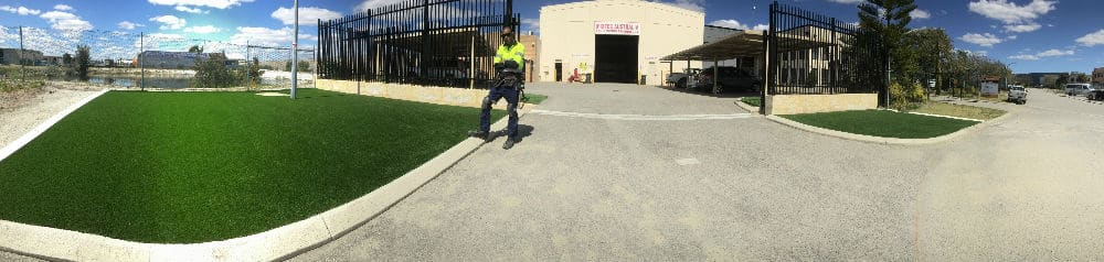 artificial grass front yard Perth Wa