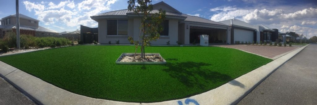 Artificial grass installation in front yard Perth WA