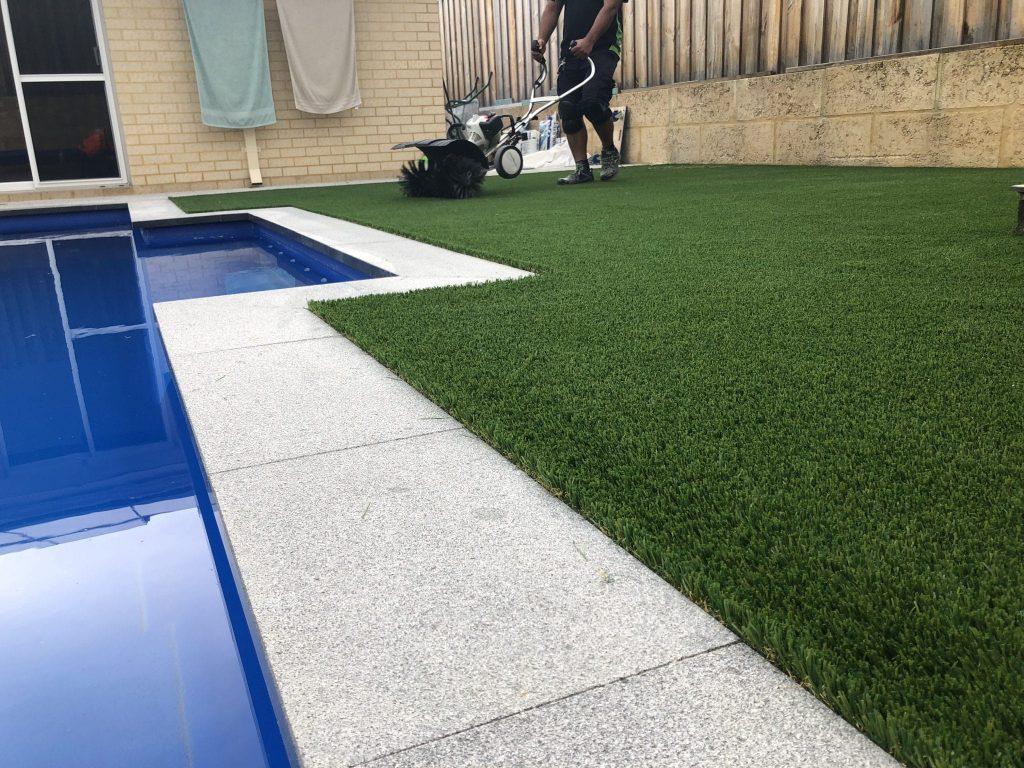 Artificial grass infill installation In Perth 6000