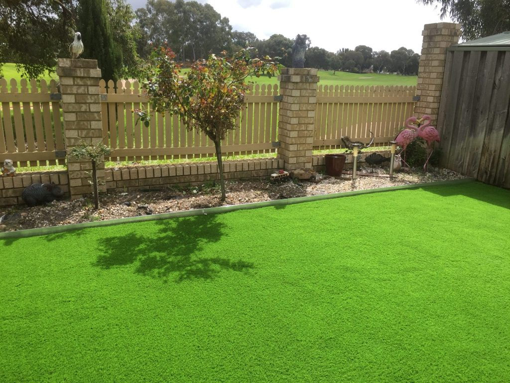 Synthetic grass installation Perth 6000 backyard