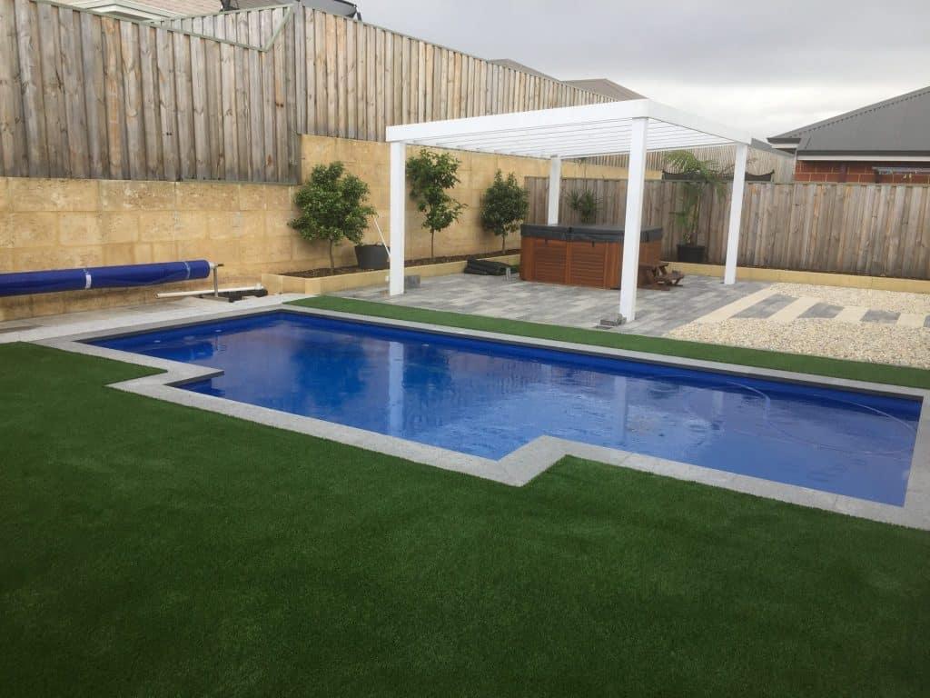 Swan Vally artificial grass Wa turf gurus Back yard installation