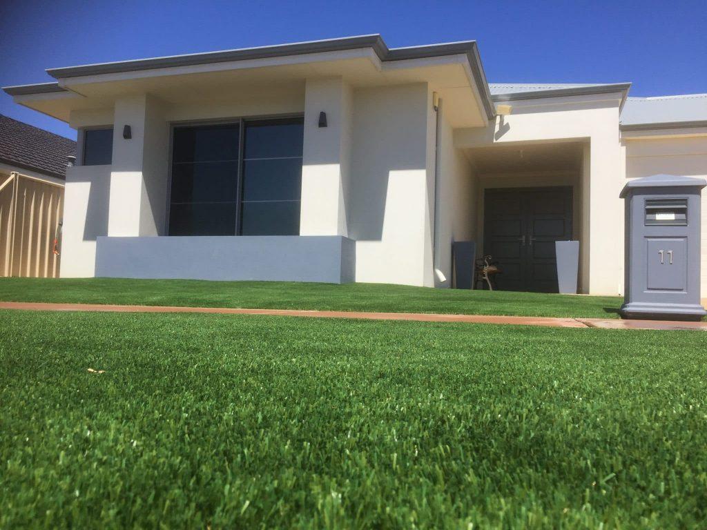 Artificial grass installation Caversham , Perth 6000 front yard