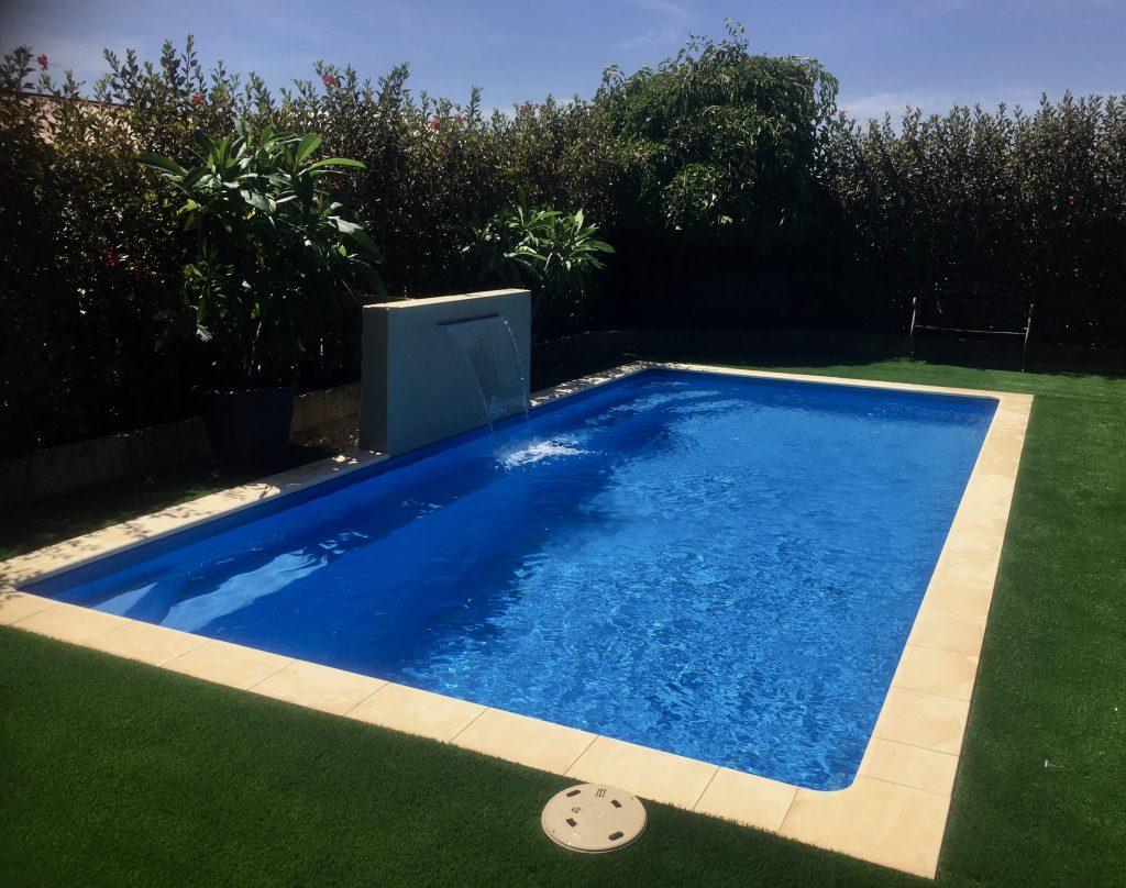 Artificial,Synthetic,Fakr grass around the pool installation Wa turf gurus
