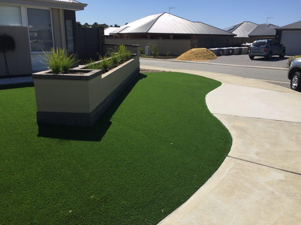 Fake Lawn Installation Front yard Perth WA